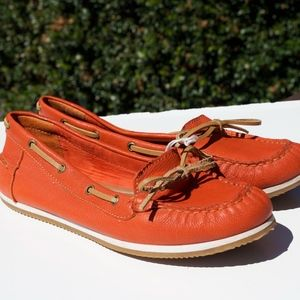 Lucky Brand Orange Loafers Mocassins